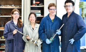 Olivia Chen team in the lab